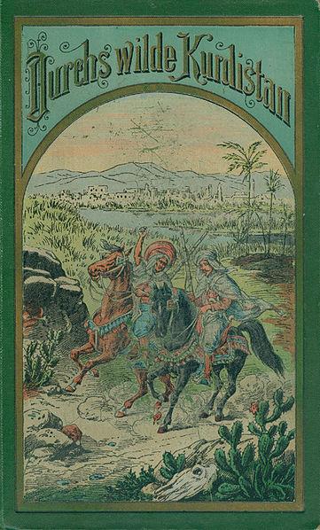 Karel May: Divokým Kurdistánem, obálka, 1892. Zdroj: Wikimedia Commons.