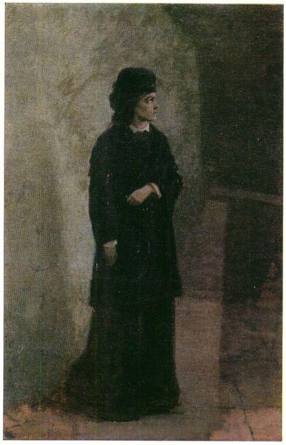 Nikolaj (Mykola) Jarošenko: Teroristka (1881). Zdroj: Wikimedia Commons.