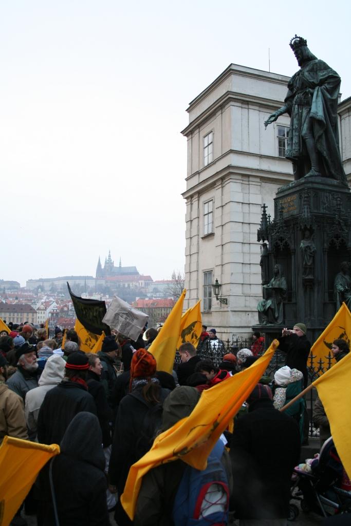 Pochod za monarchii, 2008. Foto Josef Mlejnek jr.