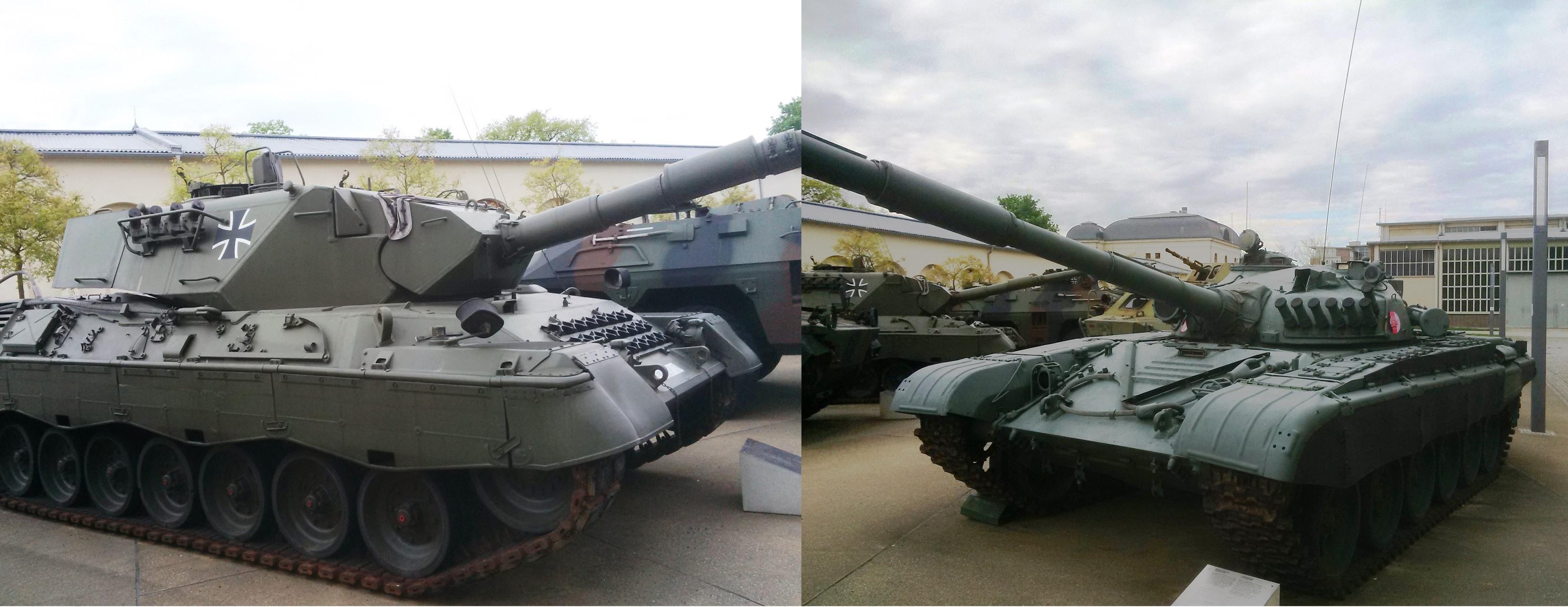Východ versus západ? V 80. letech to byli Leopard a T-72. Foto. P. Mach