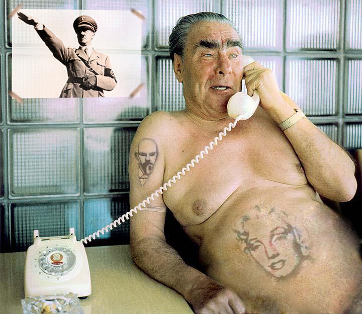 Hitler Brežněv komunismus nacismus SSSR